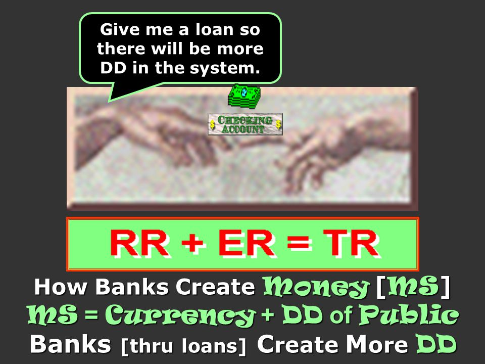 MS = Currency + DD of Public Banks [thru loans] Create More DD